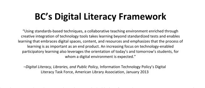 BC's Digital Literacy Framework