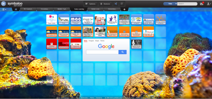 EarlySymbaloo